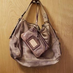 Buttery soft Diesel Leather Handbag and Wristlet